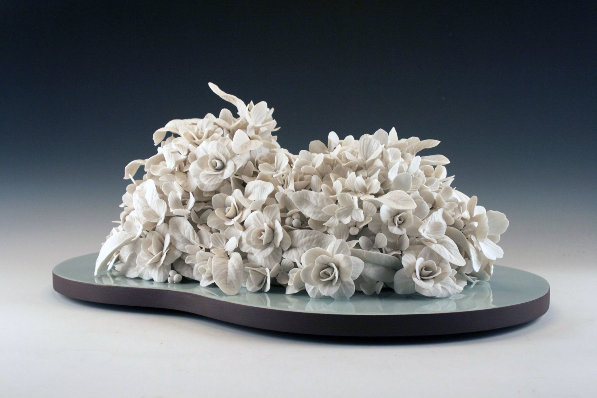 "Lumen Flores"" - Porcelain, wood, resin"