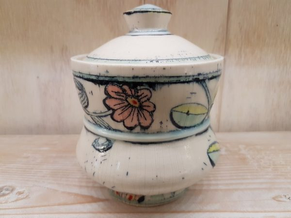 Lidded Jar - Lidded Jar - by Chandra DeBuse