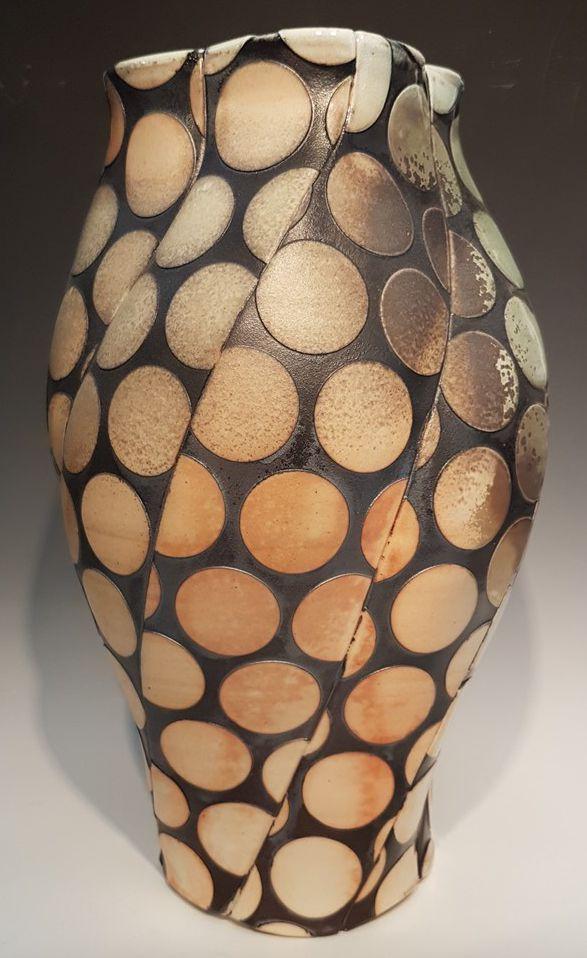 Polka Dot Vase - Material: Wood-Fired Porcelain