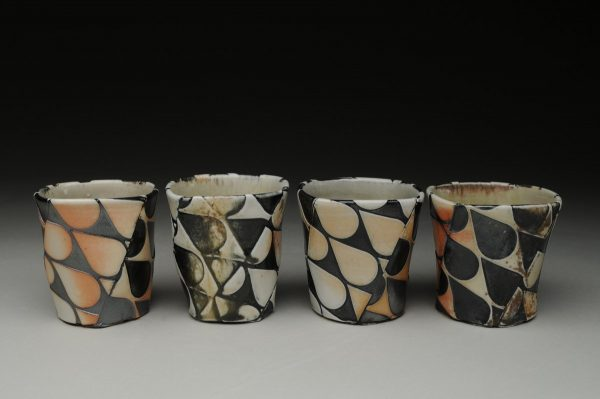 Drops of Bourbon Cups (individual) - Material: Wood-fired Porcelain