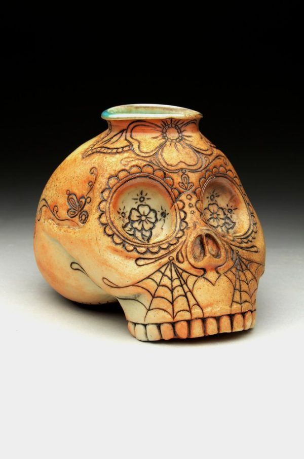 Sugar Skull Bottle - Title : Sugar Skull Bottle