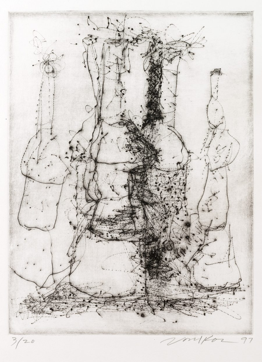 """Untitled Dry Point Etching CR 299-PR - """"Untitled Dry Point Etching CR 299-PR"""""""