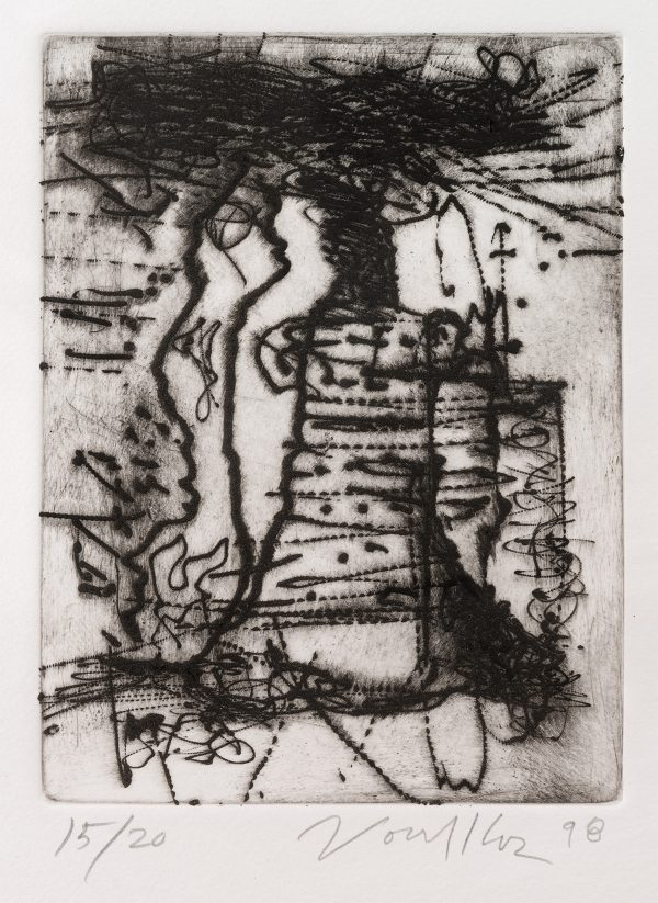 "Untitled Dry Point Etching CR 313-PR - ""Untitled Dry Point Etching CR 313-PR"""