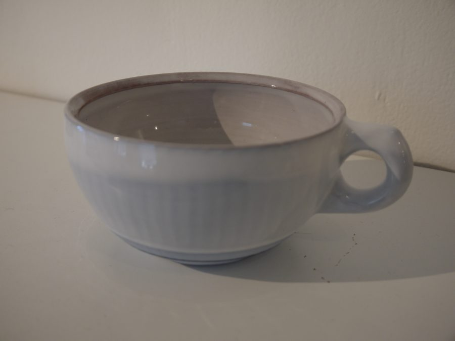 Grey/Blue Cup with Handle - Terra Cotta