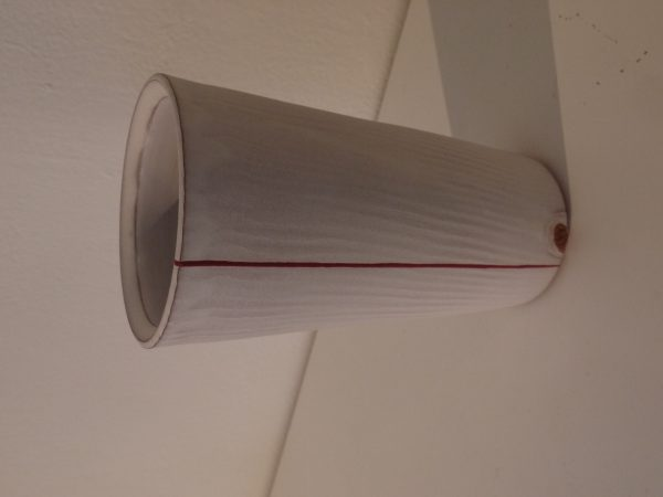 White Tumbler with red Stripe - Terra Cotta