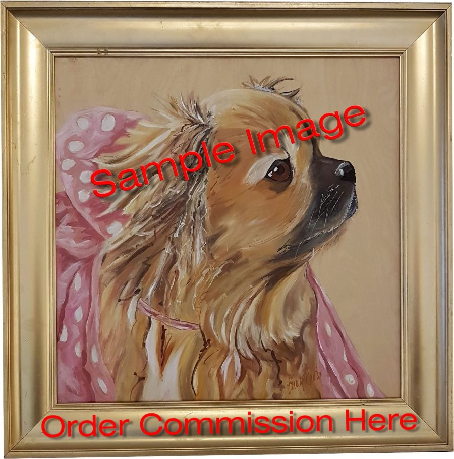 "Commission Dog Portrait 18""x18"" Inches - Commission Dog Portrait 18""x18"" Inches"