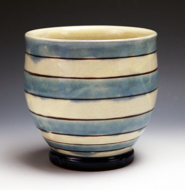 "Striped Yunomi - ""Materials: Earthenware"