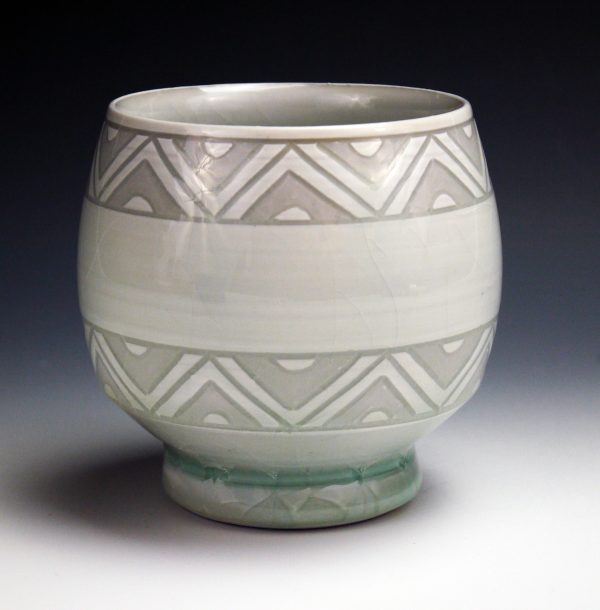 Sgraffito Triangle Cup