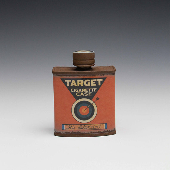 "Target' Small Flask - Title : Target"" Small Flask"