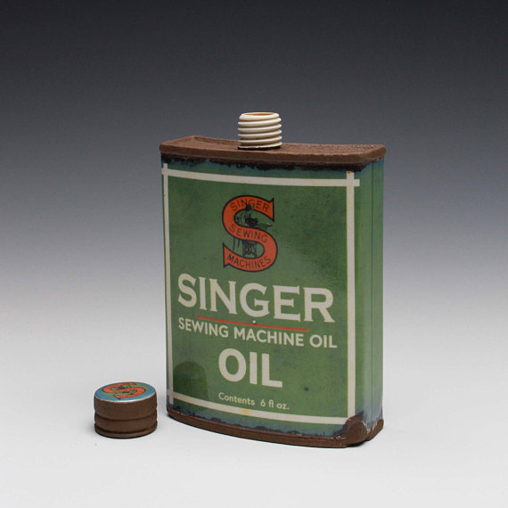 "Singer Hip Flask - Title : ""Singer"" Hip Flask"