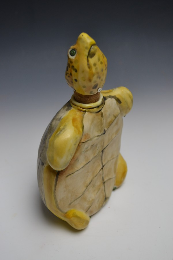 Yellow Spotted Turtle Flask - Title : Yellow Spotted Turtle Flask