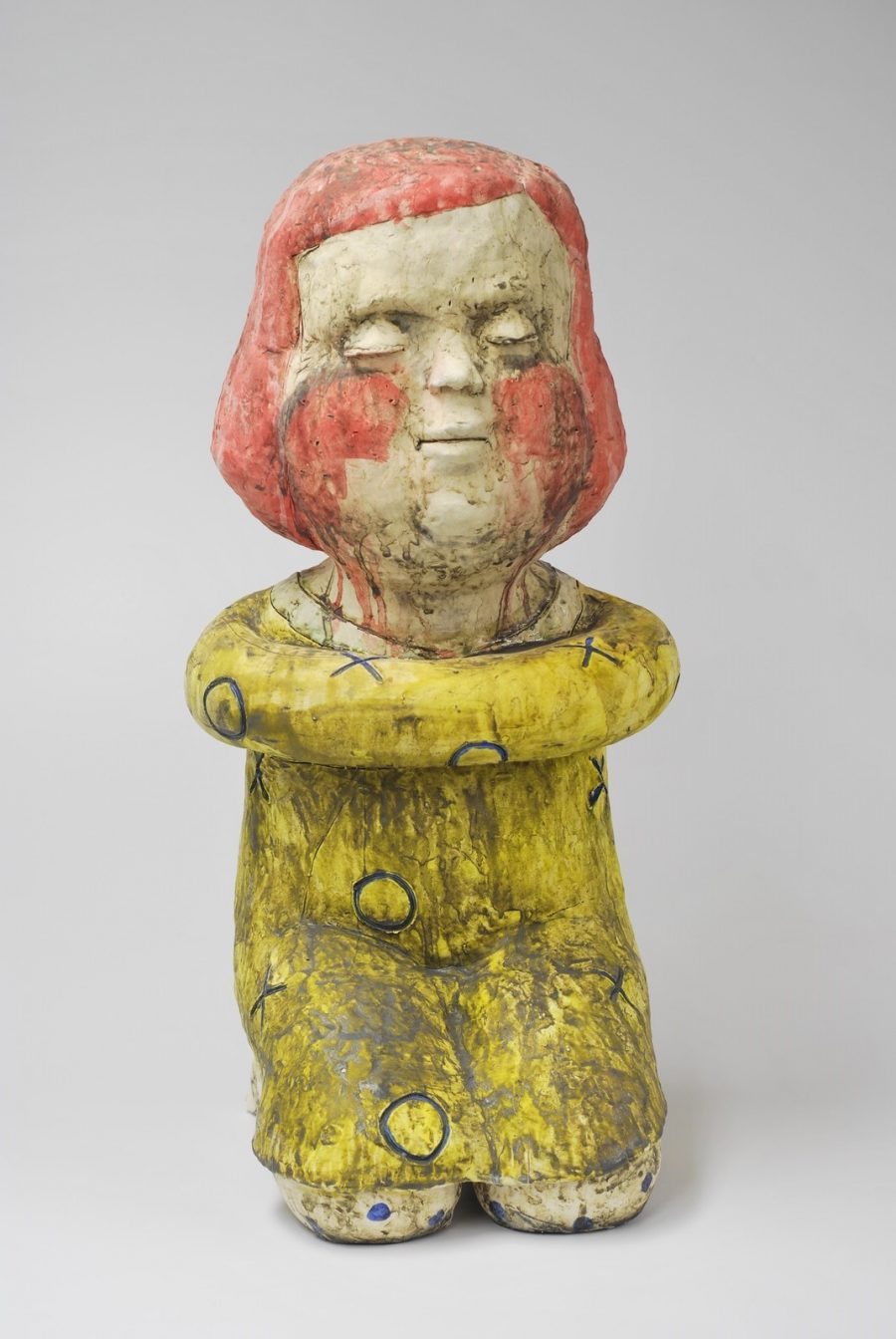 Seated figure (red head seated girl figure) - Title: Seated figure (red head seated girl figure)