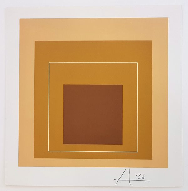 Homage to the Square Series: White Line Square - Title: Homage to the Square Series: White Line Square