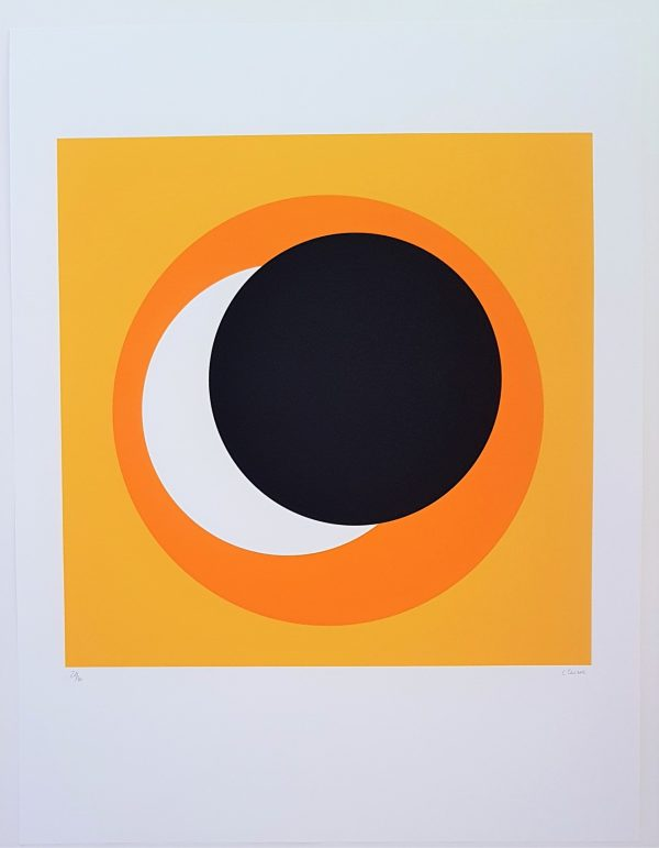 Black and Orange Circle (Cercle noir et orange) - Geneviève Claisse