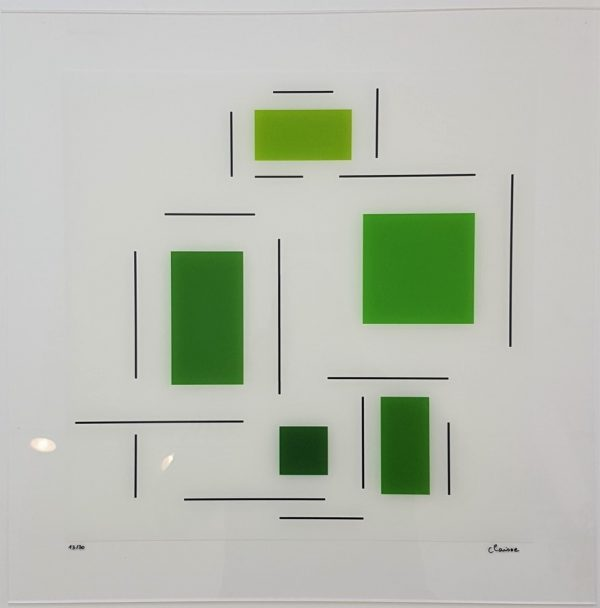 Untitled (Green) - Geneviève Claisse