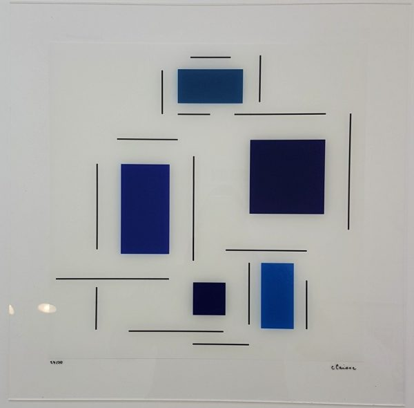 Untitled (Blue) - Geneviève Claisse