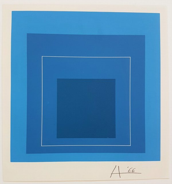 Homage to the Square - White Line Series - Artist: Josef Albers
