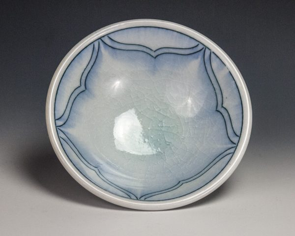 "Blue Dish - Size: 1.75"" x 5"" x 5"" - by Steven Young Lee"