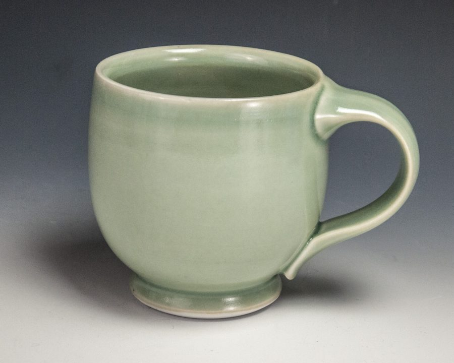 """Green Mug - Size: 3.5"""" x 5"""" x 3.5"""" - by Steven Young Lee"""