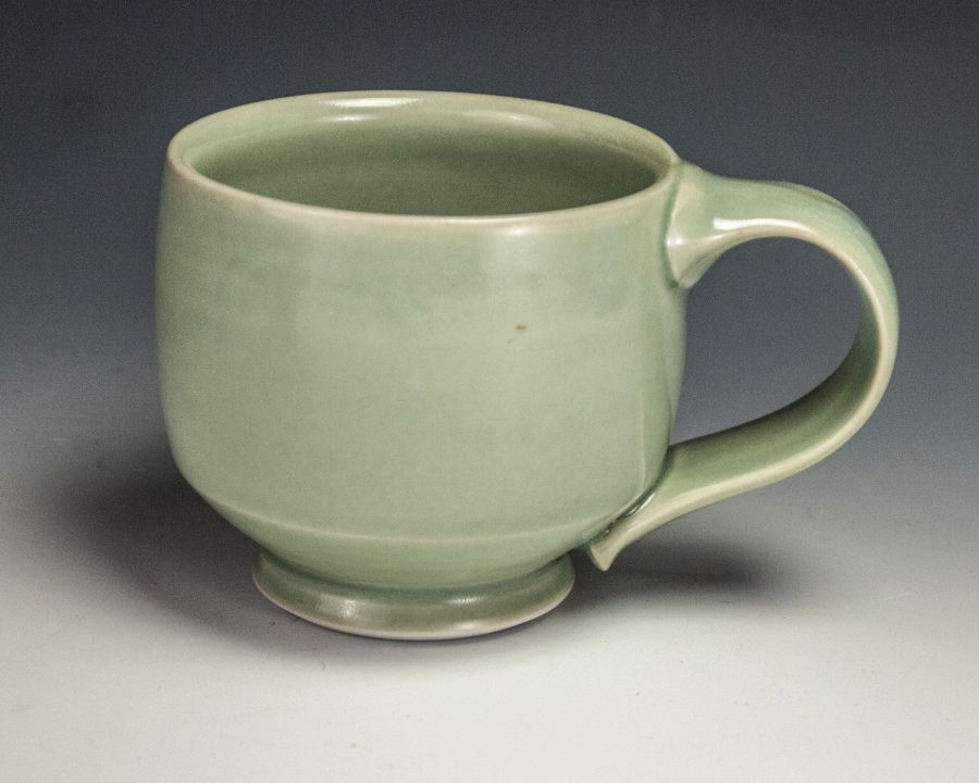"Green Mug - Size: 3.25"" x 5"" x 3.5"" - by Steven Young Lee"