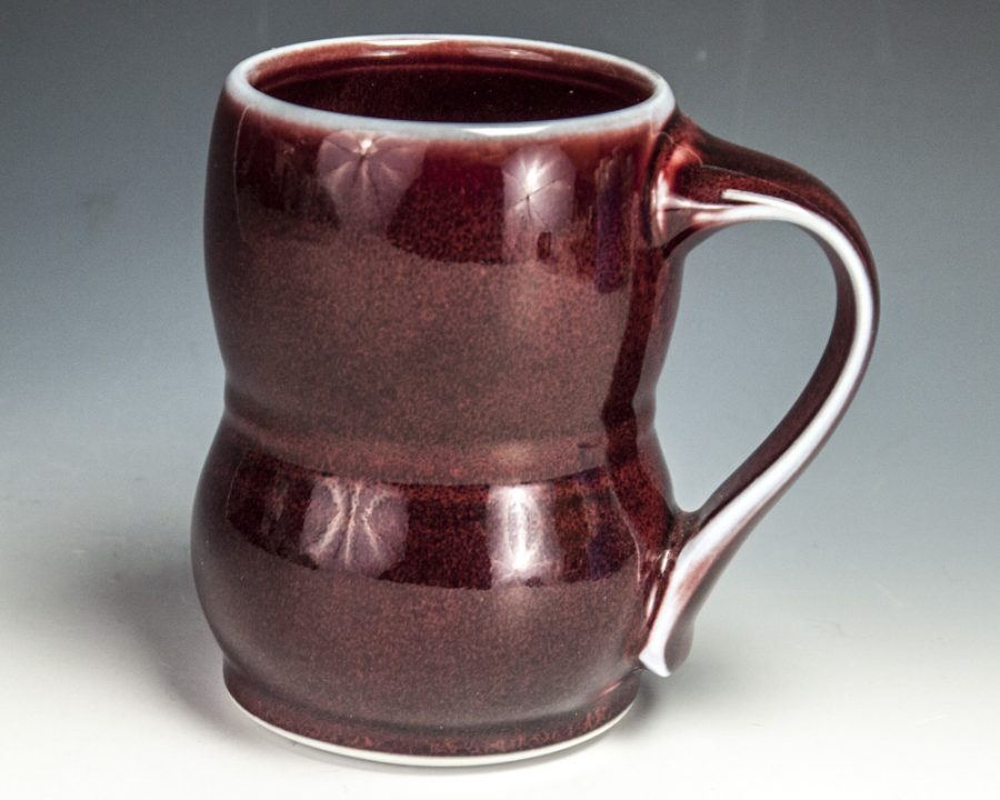 """Red Tall Mug - Size: 4.5"""" x 4.75"""" x 3.25"""" - by Steven Young Lee"""
