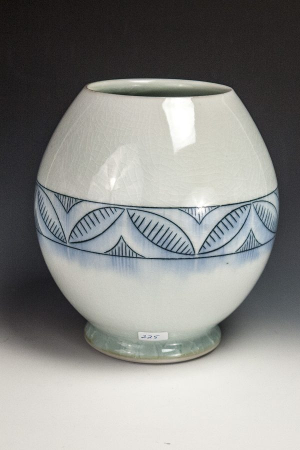 "Blue Blush Vase - Size: 7"" x 6.5"" x 6.5"" - by Steven Young Lee"