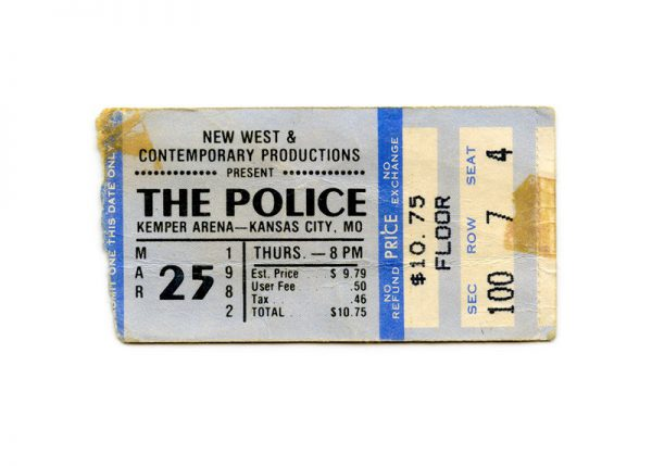 Concert Ticket (Police 1982) - Chromogenic Print