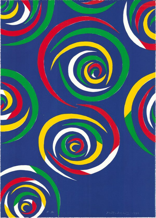 Cercles de nuit - An original print by Piero Dorazio