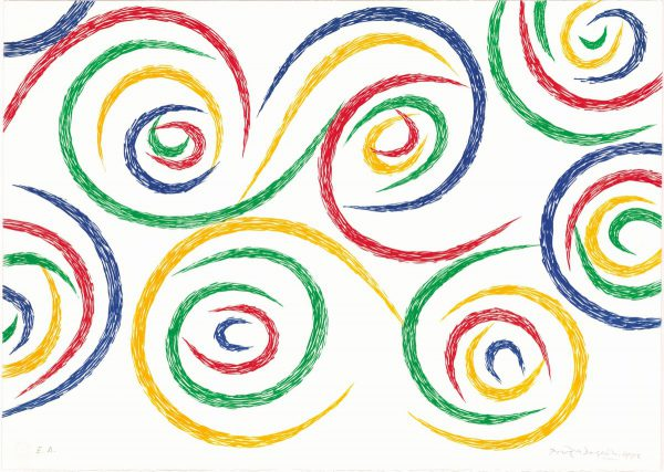 Cercles du matin - An original print by Piero Dorazio