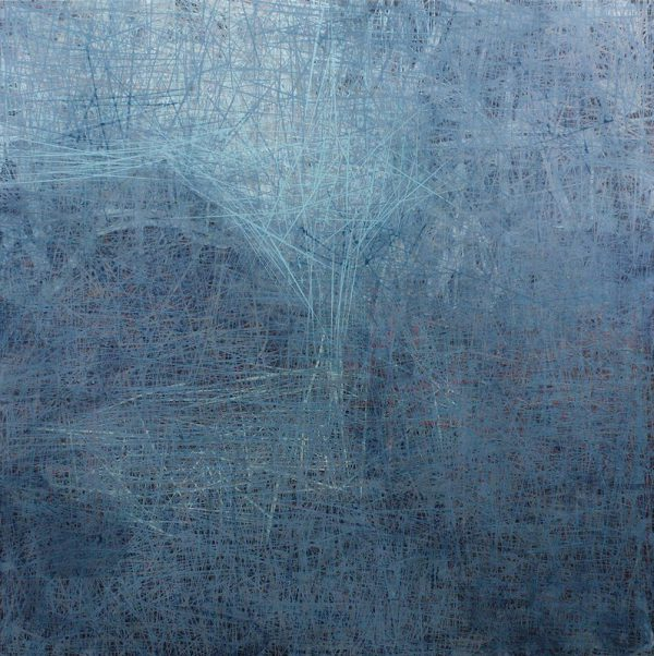 Blue Hymn - Acrylic on panel with resin