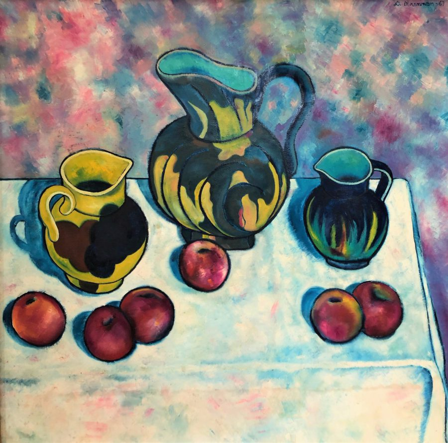 Pitcher and Apples - Title: Pitcher and Apples
