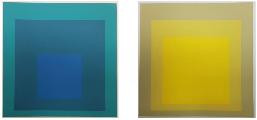 Hommage au Carre - 2 (two) Screenprints in brilliant Colors on wove paper