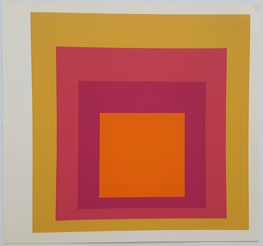 Homage to the Square: La Tehuana - Screenprint in brilliant Colors on strong wove paper double folded