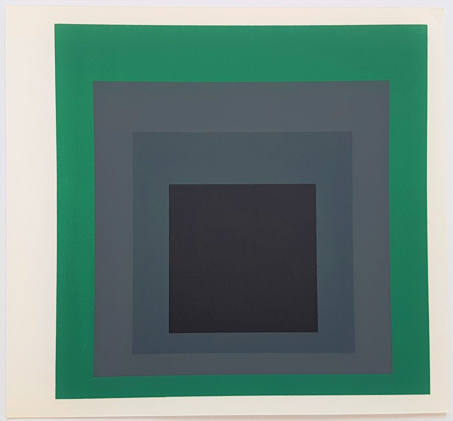 Homage to the Square: Grisaille and Patina - Screenprint in brilliant Colors on strong wove paper double folded