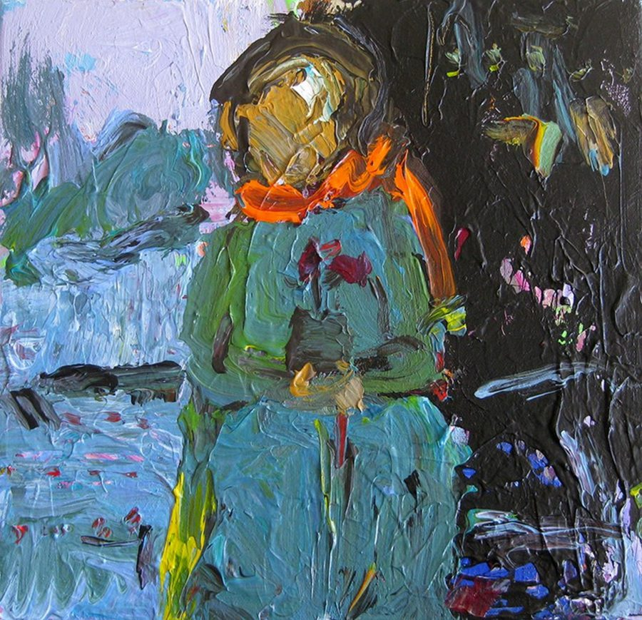 Woman With Flower - Title : Woman With Flower
