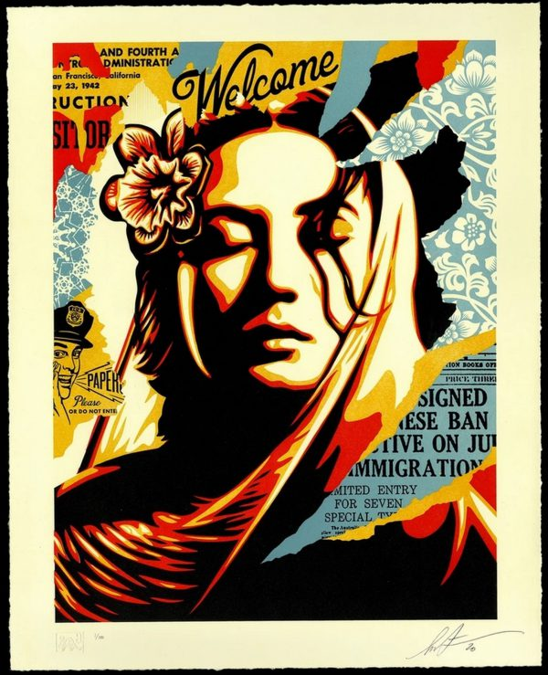 Welcome Visitors - Shepard Fairey
