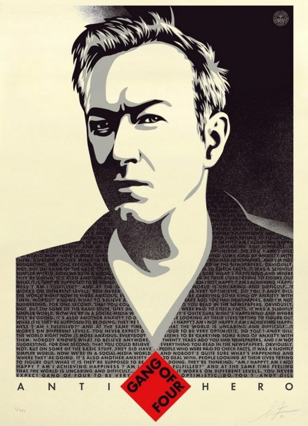 Andy Gill Anti-Hero US - Shepard Fairey