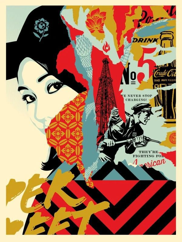 Drink Crude Oil - Shepard Fairey