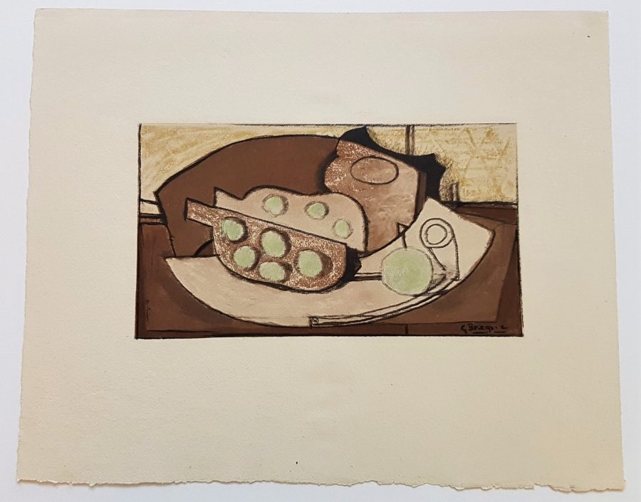 Grenade et Pipe - Georges Braque (after)