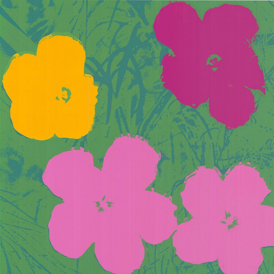 Flowers - Yellow Pink Purple Hues - Andy Warhol (after)